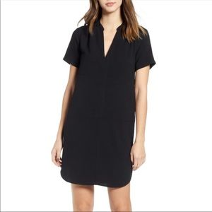 Nordstrom Lush Hailey Popover Shift Black Dress XL